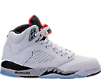 Boys' Grade School Air Jordan Retro 5 Basketball Shoes
