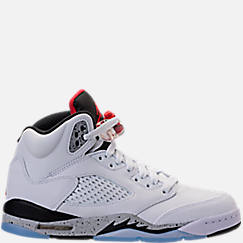 Kids' Grade School Air Jordan Retro 5 Basketball Shoes