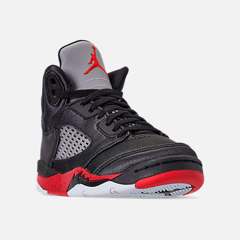 8c0d928a931bec ... buy three quarter view of little kids air jordan retro 5 basketball  shoes in black 1df2d