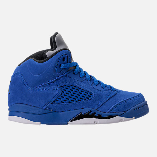 Right view of Boys' Preschool Air Jordan Retro 5 Basketball Shoes