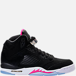 Girls' Grade School Air Jordan Retro 5 (3.5y-9.5y) Basketball Shoes