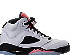 Girls' Grade School Air Jordan Retro 5 (3.5y-9.5y) Basketball Shoes