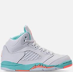 Kids' Preschool Jordan Retro 5 Basketball Shoes