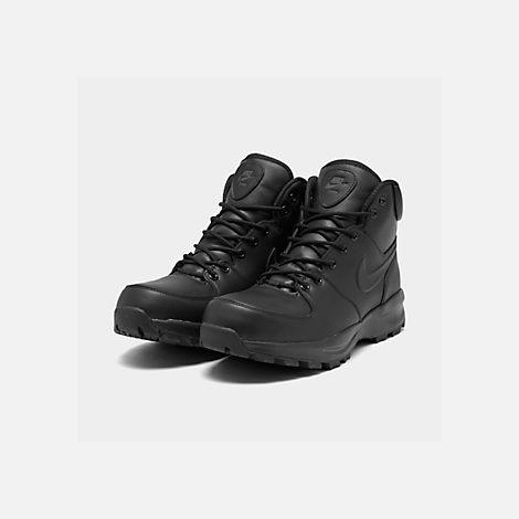 770db57237b0 Three Quarter view of Men s Nike Manoa Leather Boots in Black Black Black