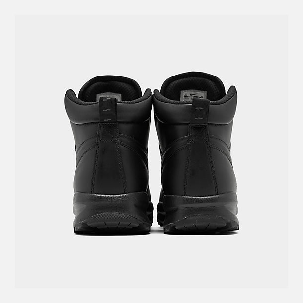 75016a67e06d38 Left view of Men s Nike Manoa Leather Boots in Black Black Black