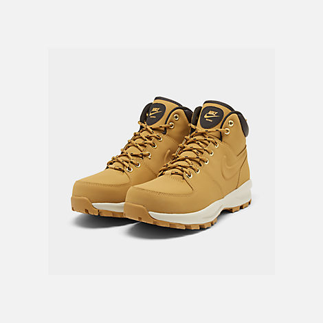 best sneakers 970d9 12ddf Three Quarter view of Men s Nike Manoa Leather Boots in Haystack Velvet  Brown