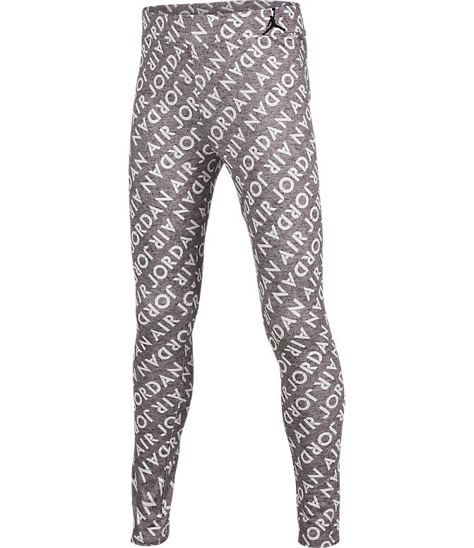 Front view of Girls' Air Jordan Allover Print Leggings