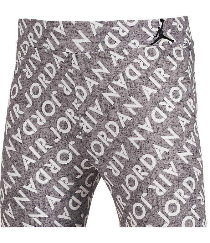 Back view of Girls' Air Jordan Allover Print Leggings