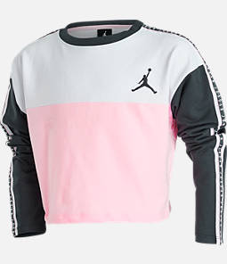 Girls' Jordan Taped Crop Crewneck Sweatshirt