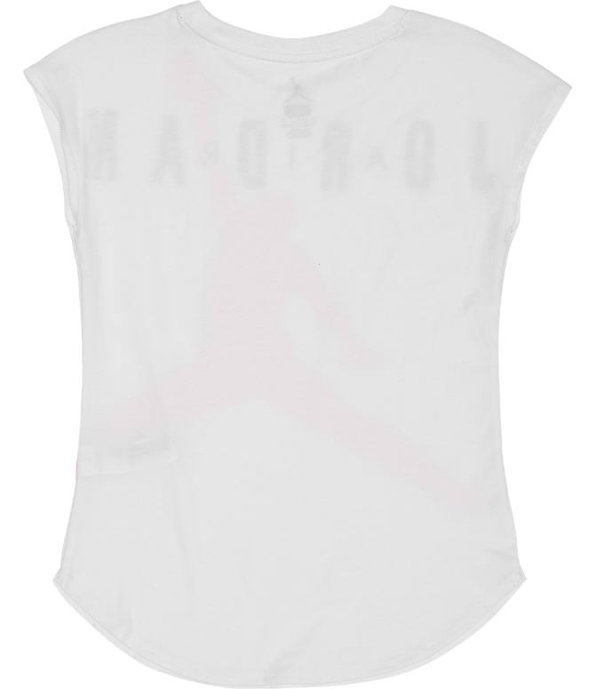 Product 4 view of Girls' Jordan Air T-Shirt in White/Pink