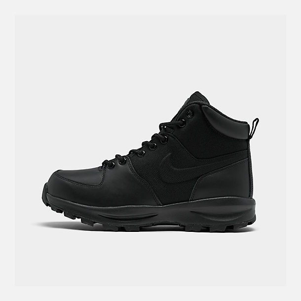 Right view of Men's Nike Manoa Boots in Black/Black