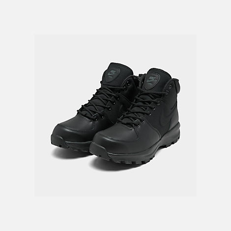 a7eb69cad3c Three Quarter view of Men s Nike Manoa Boots in Black Black