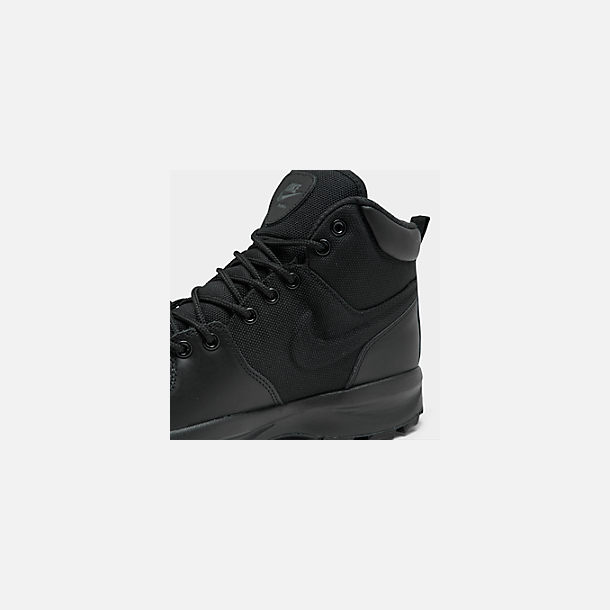 Front view of Men's Nike Manoa Boots in Black/Black