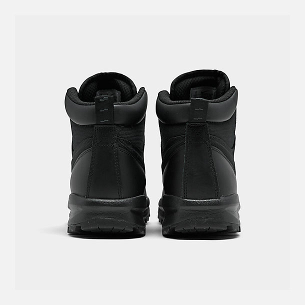 Left view of Men's Nike Manoa Boots in Black/Black