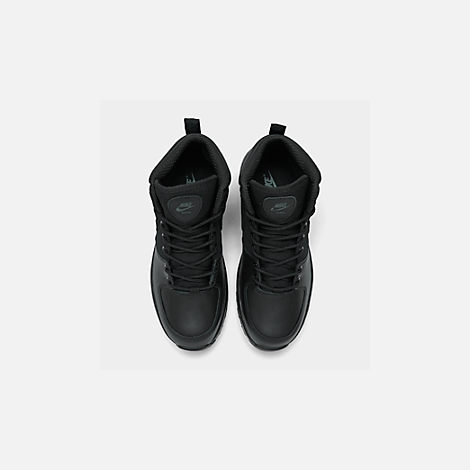 Back view of Men's Nike Manoa Boots in Black/Black