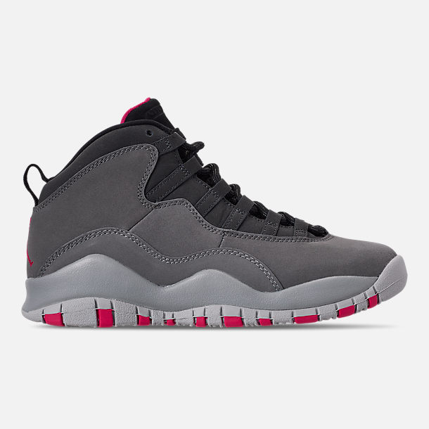 d292c30b9c03 Right view of Girls  Big Kids  Air Jordan Retro 10 Basketball Shoes in Dark