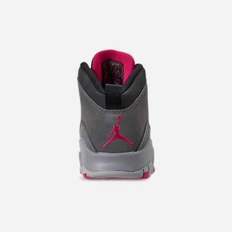 662c937b413abf Back view of Girls  Big Kids  Air Jordan Retro 10 Basketball Shoes in Dark