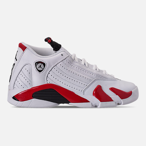 a980b54137a0 Right view of Big Kids  Air Jordan Retro 14 Basketball Shoes in White Black