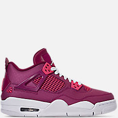 Girls' Big Kids' Air Jordan Retro 4 Basketball Shoes