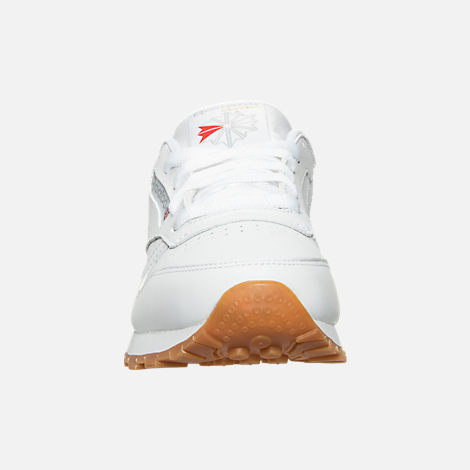 acd4aa8920bdb Front view of Women s Reebok Classic Leather Casual Shoes in White Gum