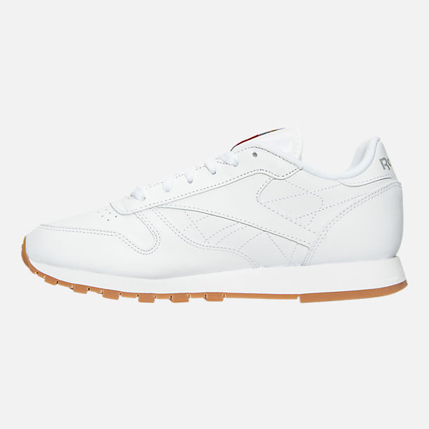 a7e0b628ae851b Left view of Women s Reebok Classic Leather Gum Casual Shoes in White Gum