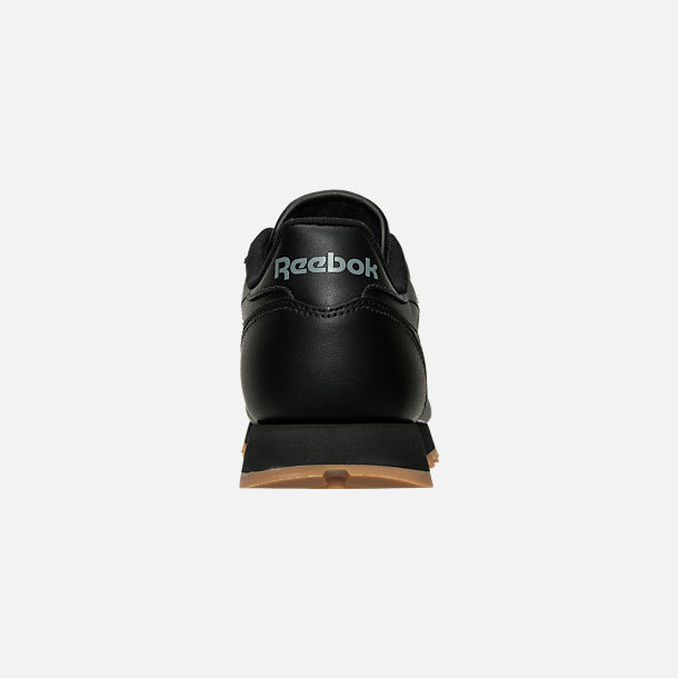Back view of Women's Reebok Classic Leather Casual Shoes in Black/Black