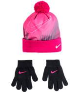 Kids' Nike Pom Beanie and Gloves Set