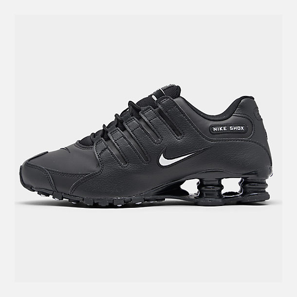 Right view of Men s Nike Shox NZ EU Running Shoes in Black White Black fab3e60e7