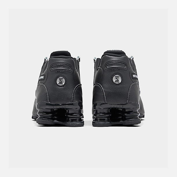 3128c373ccc6a1 Left view of Men s Nike Shox NZ EU Running Shoes in Black White Black