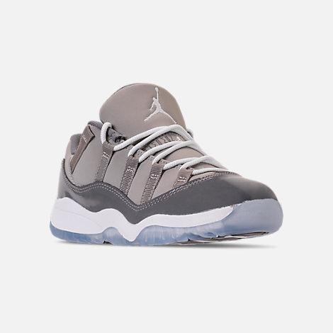 14fe3ebed5b5 ... Three Quarter view of Kids Preschool Air Jordan Retro 11 Low Basketball  Shoes in Med ...