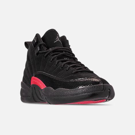 a8195e0fe3b Three Quarter view of Girls' Big Kids' Air Jordan Retro 12 Basketball Shoes  in