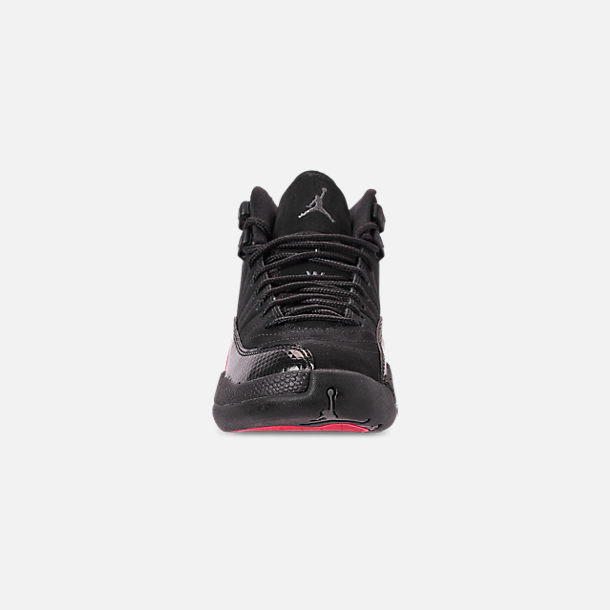 92620f34c7d Front view of Girls' Big Kids' Air Jordan Retro 12 Basketball Shoes in Black