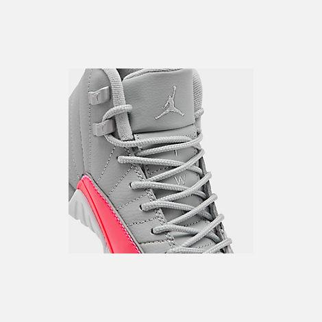 new product 40aa6 67fe7 Girls' Big Kids' Air Jordan Retro 12 Basketball Shoes
