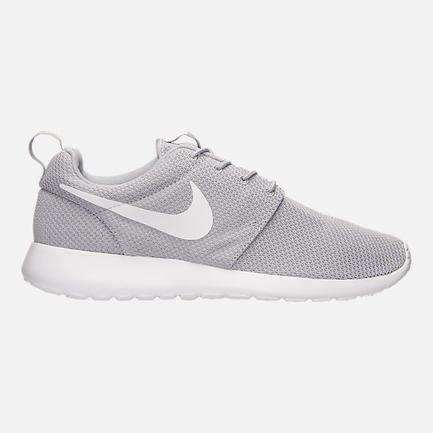 Right view of Men's Nike Roshe One Casual Shoes in Wolf Grey/White