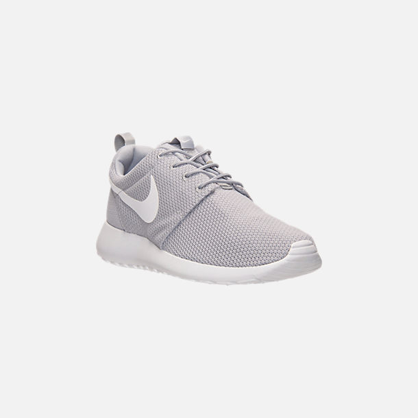 f157822fb04 Three Quarter view of Men s Nike Roshe One Casual Shoes in Wolf Grey White