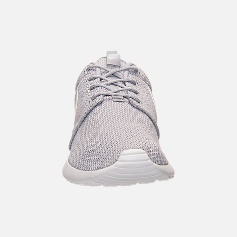 Front view of Men's Nike Roshe One Casual Shoes in Wolf Grey/White