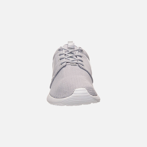 83f0d1c453989 Front view of Men s Nike Roshe One Casual Shoes in Wolf Grey White
