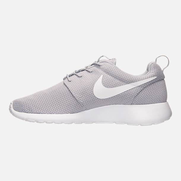 Left view of Men's Nike Roshe One Casual Shoes in Wolf Grey/White