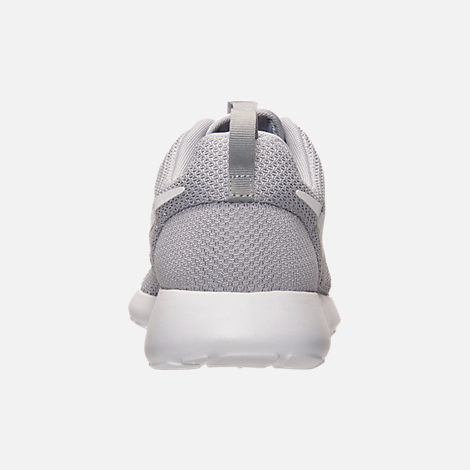 Back view of Men's Nike Roshe One Casual Shoes in Wolf Grey/White