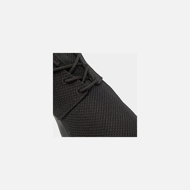 Front view of Men's Nike Roshe One Casual Shoes in Black/Black
