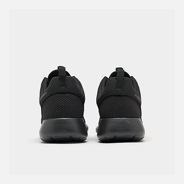 Left view of Men's Nike Roshe One Casual Shoes in Black/Black