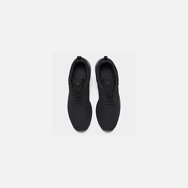 Back view of Men's Nike Roshe One Casual Shoes in Black/Black