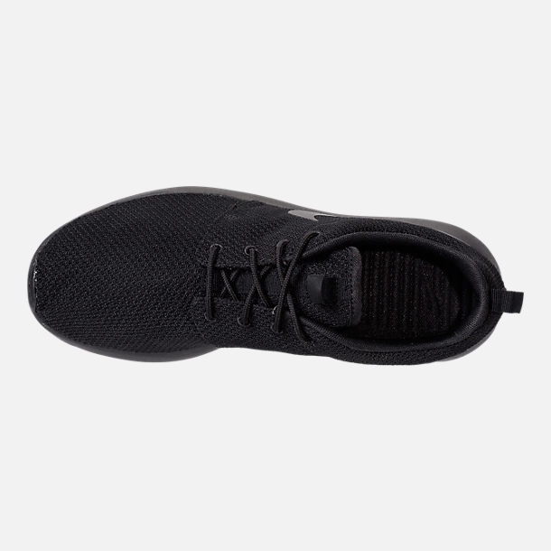 Top view of Men's Nike Roshe One Casual Shoes in Black/Black