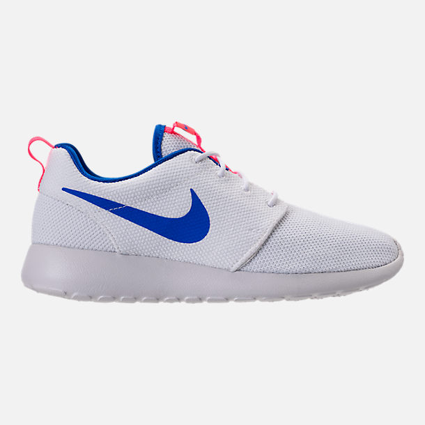 Right view of Men's Nike Roshe One Casual Shoes in White/Ultra Marine/Solar Red