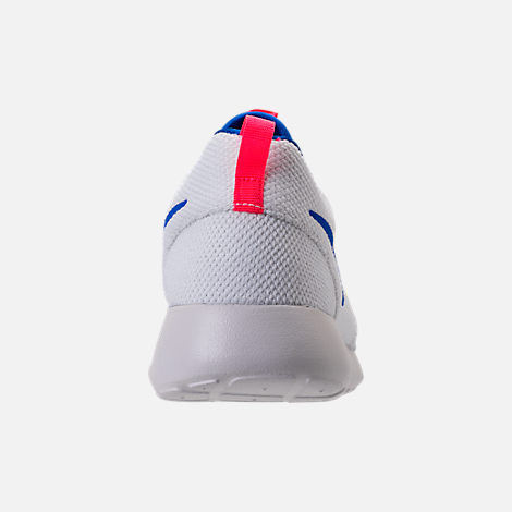 Back view of Men's Nike Roshe One Casual Shoes in White/Ultra Marine/Solar Red