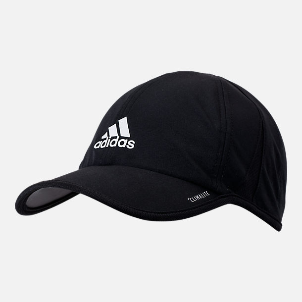 Front view of Men's adidas SuperLite Performance Adjustable Hat in Black
