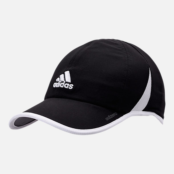 Front view of Women's adidas adiZero Superlite Perforated Hat in Black/Ash Pearl