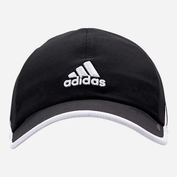 Back view of Women's adidas adiZero Superlite Perforated Hat in Black/Ash Pearl