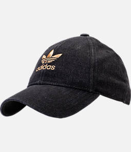 Women's adidas Originals Relaxed Plus Denim Strapback Hat Product Image