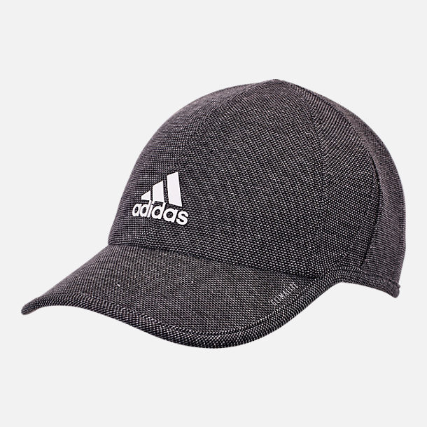 Front view of adidas Superlite Pro II Adjustable Back Hat in Black White f49496825cf9